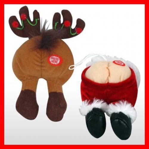 farting santa ornament