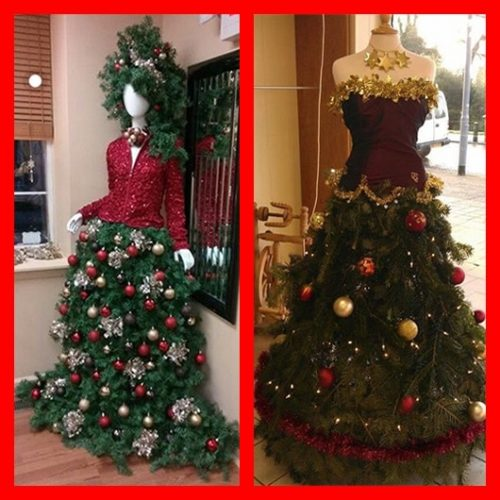 manequin christmas tree